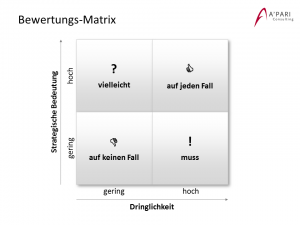 A'PARI Consilting GmbH - Bewertungs-Matrix